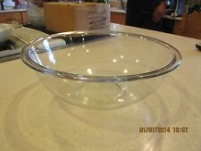 VINTAGE PYREX NESTING MIXING BOWL, 326 CLEAR GLASS BOWL LARGE 4 QT.