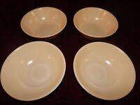 Pfaltzgraff - TEA ROSE PATTERN - Soup Cereal Salad Bowls - Set Lot of 4 - Plain