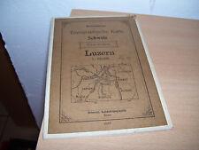 Armeekarten topographische Karte der Schweiz Luzern 1907 Landestopographie Bern