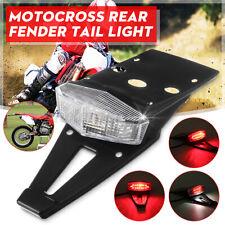 Universal Motorcycle Rear Fender LED Tail Light Brake Stop Lamp Enduro Dirt Bike