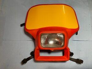 HONDA XR350R XR250R XR500R XR200R OEM HEADLIGHT SHROUD W/LAMP  MOUNTING STRAPS
