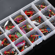 Colorful 30pcs Metal Trout Spoon Fishing Lures Spinner Baits Bass Tackle Fresh