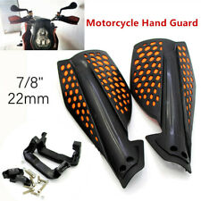 2pcs Checkered Hand Guard Handlebar Wind Deflector Protector Handguard 22mm ATV