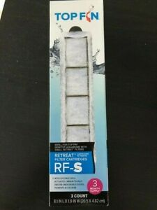 Top Fin Retreat RF-S Filter Cartridges (Small) 3 ct Refill for Desktop Aq.