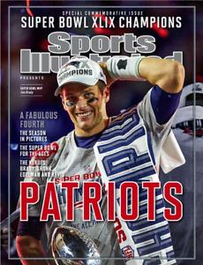 "Patriots 2014 Super Bowl Champion Sports Illustrated Tom Brady 24"" x 18"" POSTER"