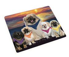 Family Sunset Dog Cat Tempered Glass Kitchen Cutting Board,Pet Photo Lovers Gift
