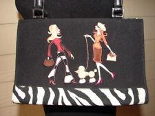 Chic Embroidered Zebra Print Fashion Handbag Bohemian Couture Oo La La!