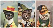 POSTCARDS (6) THIELE MALE CATS IN HATS T.S.N. 918 COMPLETE SET (REC)