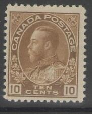 CANADA SG254 1925 10c BISTRE-BROWN MTD MINT
