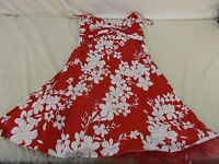 B Darlin Red Floral spaghetti strap Dress Lace Lined Padded size 11/12 110457