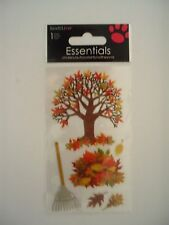 ESSENTIALS RAKING LEAVES FALL TREES SCRAP BOOK STICKERS