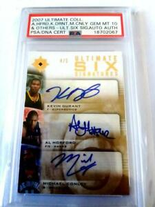 KEVIN DURANT UD ULTIMATE 2007-08  SIX SIGNS ROOKIE AUTO 4/5 PSA 10 GEM MINt!!