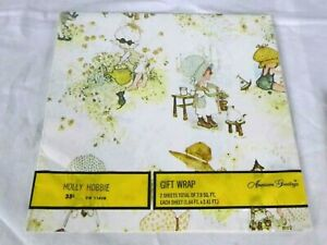 Vtg 70s Hollie Hobbie UNOPENED Package Gift Wrap Wrapping Paper All Occasion