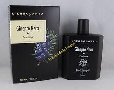 L'ERBOLARIO Profumo GINEPRO NERO 100ml uomo perfume Black Juniper man