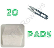 Wick Trimming Scissors + 20 Organic Japanese Cotton Pads RDA RBA Vape Cotton