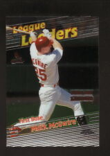Mark McGwire--St Louis Cardinals--1999 Topps Chrome League Leaders Baseball Card