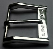 Art Deco Style Solid Sterling Silver Hallmarked Belt Buckle''The Soho""