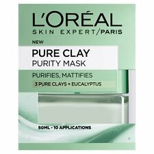 New L'oreal Dermo Expertise Pure Clay Purity Mask Green 50 ml Face Skin Peel
