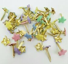 Scrapbooking Brads 50 Mini Stars 5 Pastel Colors Crafts Embellish Handmade Cards
