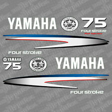 Yamaha 75 four stroke outboard (2002-2006) decal aufkleber addesivo sticker set