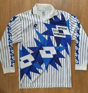 LOTTO VINTAGE TEMPLATE 1990'S FOOTBALL SHIRT JERSEY LONG SLEEVE SIZE #6 XL ADULT