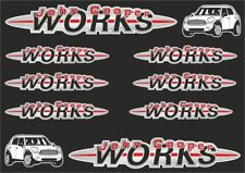John Cooper Mini Works Decal Stickers Graphic Set Logo Vinyl Adhesive 10 Pcs