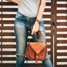 Genuine Handmade Vintage Real Leather Women Shoulder Sling Purse Bag Saddle