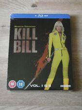 Kill Bill Vol 1 & 2 Steelbook UK Blu Ray New & Sealed