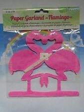 PAPER FLAMINGO GARLAND APPROX 2 METERS FUN PARTY GARDEN BAR TROPICAL GARLANDS GI