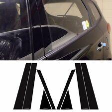 Black Door B Pillar Mirror Plate Molding For KIA All New Carens Rondo 2013~2016