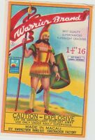 Vintage Warrior Brand Firecracker Pack Label