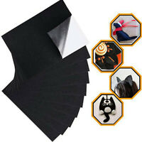 Black Felt Fabric Adhesive Sheets Multipurpose Velvet Sheet Sticky Glue Back