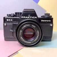 Praktica BCA Electronic 35mm SLR Film Camera W/ 50mm F/:1.8 Prime Lens Lomo