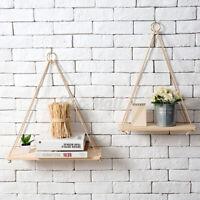 Wall Hanging Shelf Wooden Floating Shelves Display Storage Rack Home Room Decor