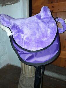 BuckYou HY.PE PURPLE  English style Treeless bareback saddle pad Vegan