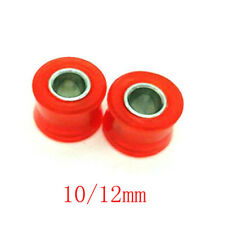 2pc Top Quality Motorcycle Bike Rear Shock Absorber Durable Red Rubber Bush