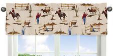 Western Print Window Valance Curtain For Sweet Jojo Design Wild West Boy Bedding