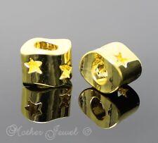 BEAUTIFUL GIFT YELLOW GOLD GP STAR LARGE EUROPEAN BRACELET CHARM BEAD PENDANT
