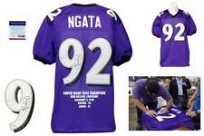 Haloti Ngata SIGNED Purple Stat Jersey - PSA/DNA - Baltimore Ravens Autograph