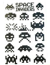 Kit adesivi Space Invader invaders sticker decal murale vintage gaming c64 ibm
