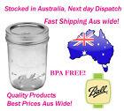12 Ball Half Pint Regular Mouth Genuine Ball Mason Preserving Jars BPA FREE
