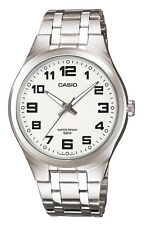 Casio Mtp-1310d-7bvef Gents Watch Quartz Analogue White Dial Silver Steel Strap