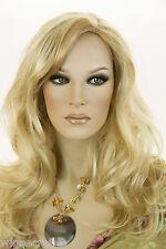 Golden Blonde Highlight Pale Blonde Blonde Long Skin Top Straight Wigs