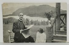 Baltimore Pastor Leander M Zimmerman visits Buena Vista Springs Pa Postcard N10