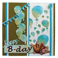 Stanzschablone Ballon Weihnachts Hochzeit Geburtstag Karte Album Einladung DIY