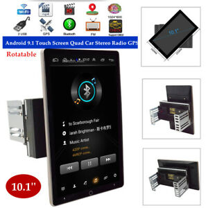 10.1'' Rotatable Android 9.1 Touch Screen Quad Car Stereo Radio GPS Wifi DC12V