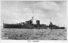 HMS Leander -  Light Cruiser, Valentine's Real Photographic Postcard