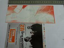 U2 - BILLET DE CONCERT  - TICKET ORIGINAL COLLECTOR - RARE - SDF PARIS 2009