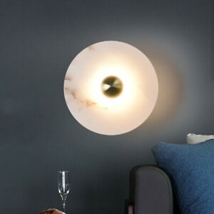 Modern Gold Metal Marble Wall Light Living Room Dining Room Bedroom Wall Sconce