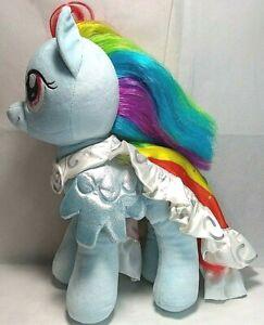 "Build A Bear My Little Pony Rainbow Dash Blue Pegasus Plush Stuffed Animal 17"""